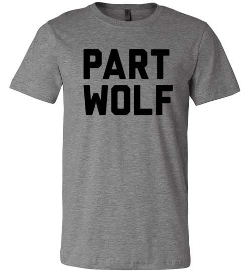 Part Wolf | Unisex Gray T-Shirt | Eternal Weekend - 2