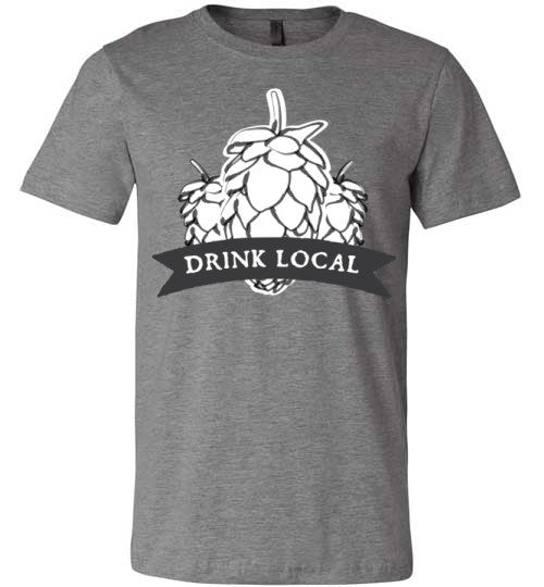 Drink Local Beer | Unisex Gray T-Shirt | Eternal Weekend - 3