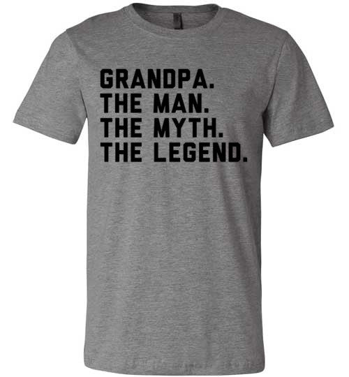 Grandpa The Man The Myth The Legend | Unisex Gray T-Shirt | Eternal Weekend - 2