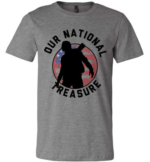 Our National Treasure | Unisex Gray T-Shirt | Eternal Weekend - 3