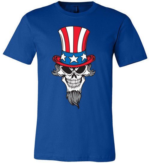 Uncle Sam Skull | Unisex Gray T-Shirt | Eternal Weekend - 1