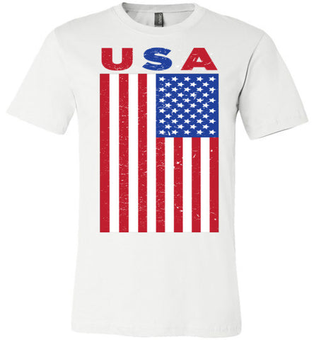USA Flag | Unisex White T-Shirt | Eternal Weekend - 1