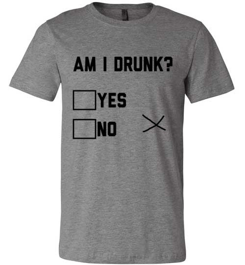 Am I Drunk? Yes/No/X | Unisex Gray T-Shirt | Eternal Weekend - 2