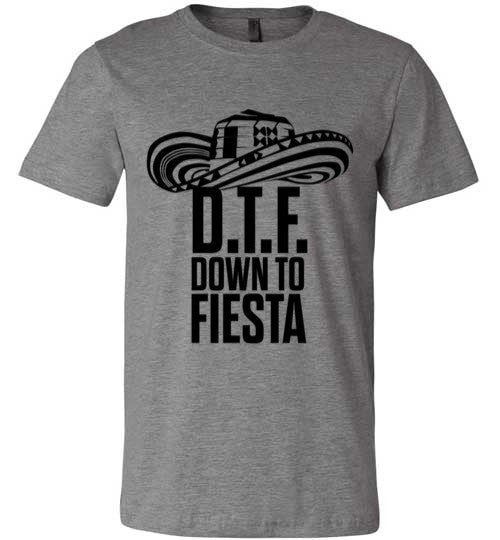 DTF Down To Fiesta | Unisex Gray T-Shirt | Eternal Weekend - 1