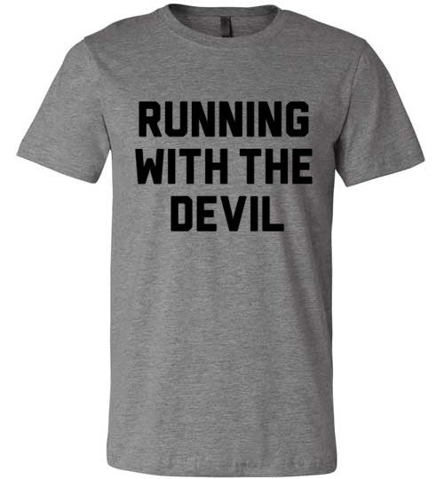 Running With The Devil | Unisex Gray T-Shirt | Eternal Weekend - 2