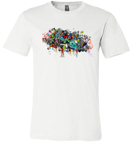 3D Graffiti T-Shirt (Arnie Glesper Collection) | Unisex White T-Shirt | Eternal Weekend - 1