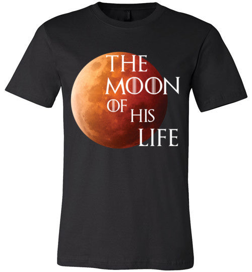 The Moon Of His Life | Unisex Black T-Shirt | Eternal Weekend - 4