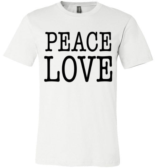 Peace Love Shirt | Unisex White T-Shirt | Eternal Weekend - 1