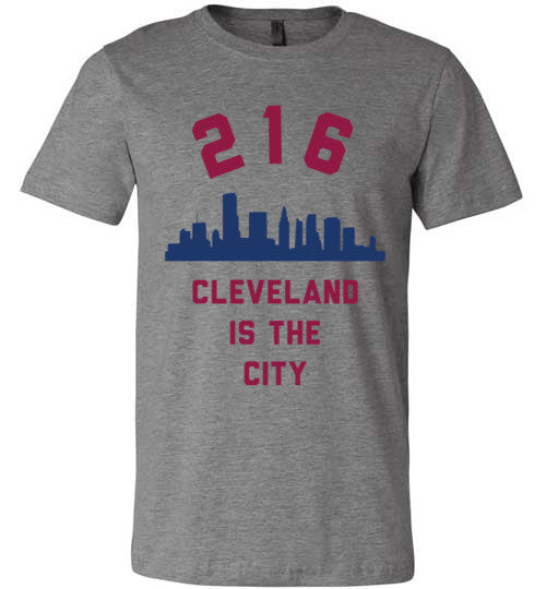 216 Cleveland Is The City | Unisex Gray T-Shirt | Eternal Weekend - 1