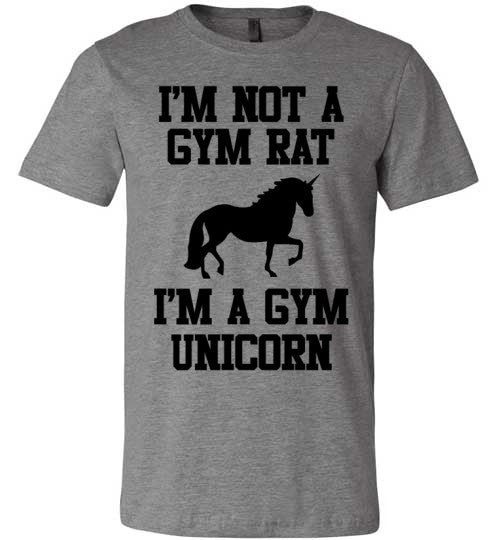 Im Not A Gym Rat I'm A Gym Unicorn | Unisex Gray T-Shirt | Eternal Weekend - 4