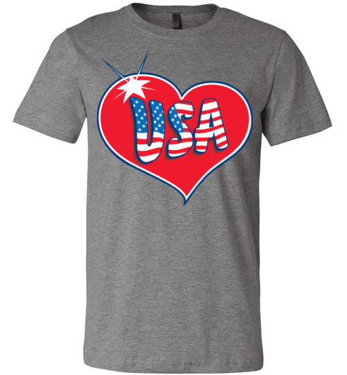 USA Love | Unisex Gray T-Shirt | Eternal Weekend - 1