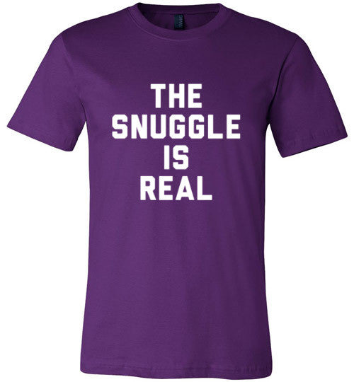 The Snuggle Is Real (White Text) | Unisex Black T-Shirt | Eternal Weekend - 1