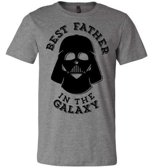 Best Father In The Galaxy | Unisex Gray T-Shirt | Eternal Weekend - 3