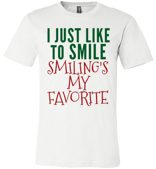 I Just Like To Smile | Unisex White T-Shirt | Eternal Weekend - 1