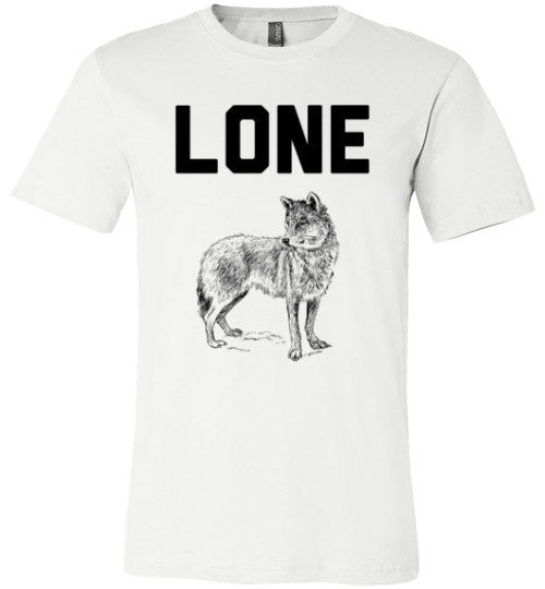 Lone Wolf Shirt | Unisex White T-Shirt | Eternal Weekend - 2