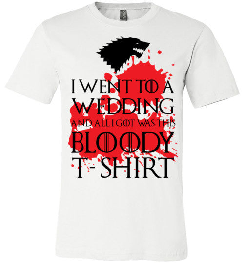 Bloody Wedding Shirt | Unisex White T-Shirt | Eternal Weekend - 4