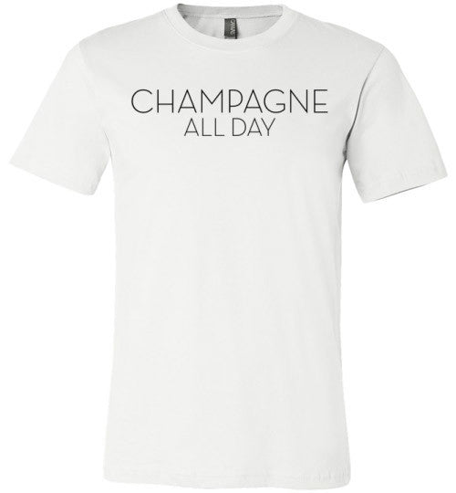 Champagne All Day | Unisex White T-Shirt | Eternal Weekend - 2