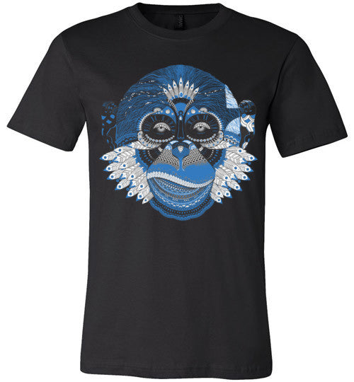 Blue Monkey T-Shirt (Arnie Glesper Collection) | Unisex Black T-Shirt | Eternal Weekend - 1