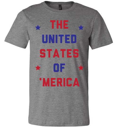 The United States Of 'Merica | Unisex Gray T-Shirt | Eternal Weekend - 4
