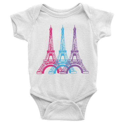 Eiffel Tower Infant short sleeve onesie | Onsies | Eternal Weekend
