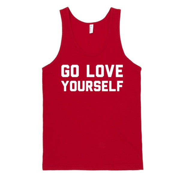 Go Love Yourself (tank) | Unisex Black Tank Top | Eternal Weekend - 4