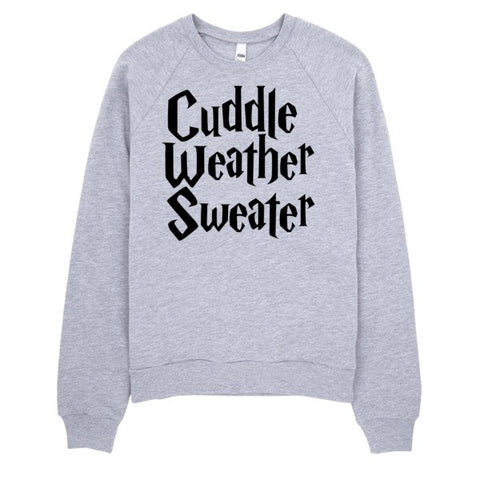Cuddle Weather Sweater | Unisex Crewneck Sweatshirt Grey | Eternal Weekend - 1