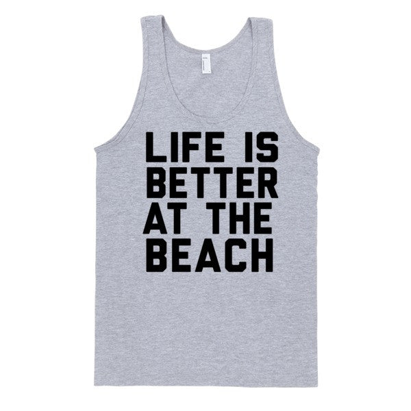 Life Is Better At The Beach | Unisex White Tank | Eternal Weekend - 2