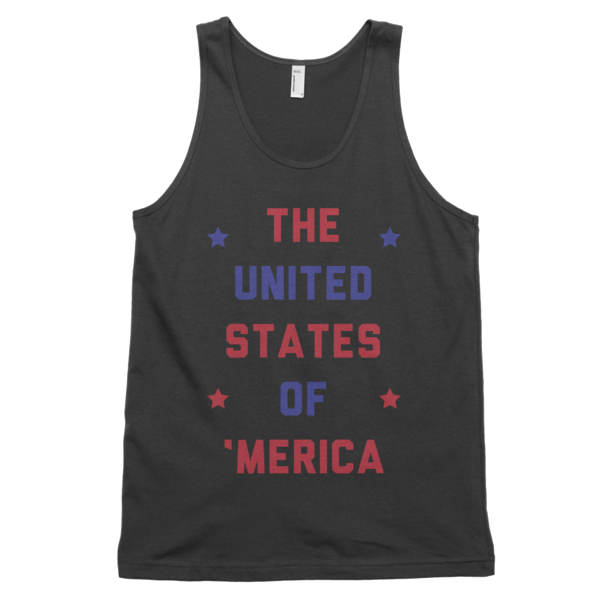 The United States of 'Merica Tank | Unisex White Tank | Eternal Weekend - 2