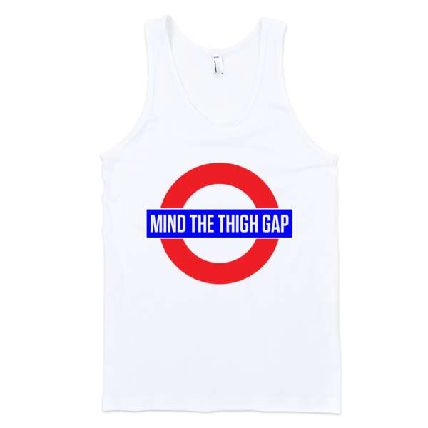 Mind The Thigh Gap Classic tank top (unisex) | Unisex Gray Tank | Eternal Weekend - 2