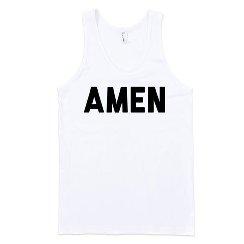 Amen (tank) | Unisex White Tank | Eternal Weekend - 1