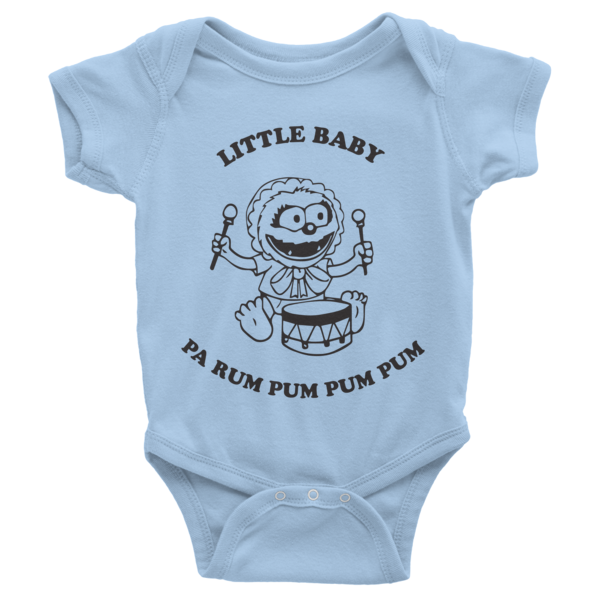Little Baby (Animal) Pa Rum Pum Pum Pum Infant short sleeve one-piece | Onsies | Eternal Weekend - 2