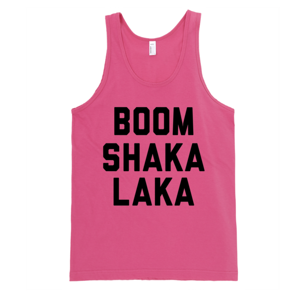 Boom Shaka Laka Tank | Unisex White Tank | Eternal Weekend - 5