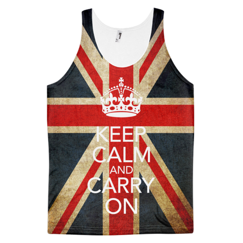 Keep Calm And Carry On Tank | All-Over Tank | Eternal Weekend - 1