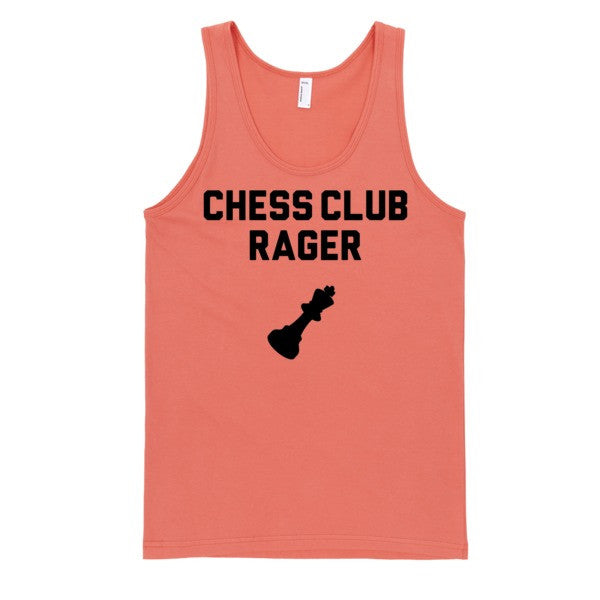 Chess Club Rager Tank | Unisex White Tank | Eternal Weekend - 3