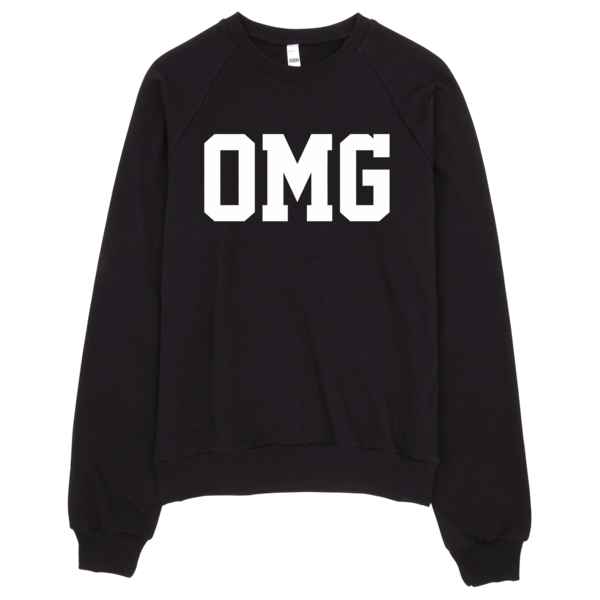 OMG Sweater | Unisex Crewneck Sweatshirt - Black | Eternal Weekend - 1