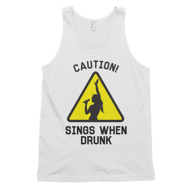 Caution Sings When Drunk Tank Top | unisex coral Tank | Eternal Weekend - 2