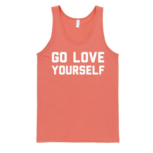 Go Love Yourself (tank) | Unisex Black Tank Top | Eternal Weekend - 5