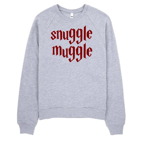 Snuggle Muggle | Unisex Crewneck Sweatshirt Grey | Eternal Weekend - 1