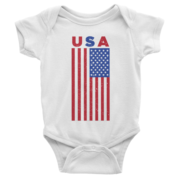 USA Infant short sleeve onesie | Onsies | Eternal Weekend