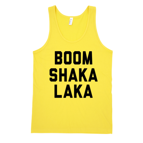 Boom Shaka Laka Tank | Unisex White Tank | Eternal Weekend - 1