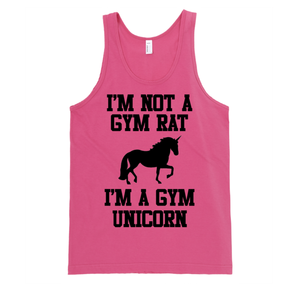 Im Not A Gym Rat I'm A Gym Unicorn Classic tank top (unisex) | Unisex Gray Tank | Eternal Weekend - 4