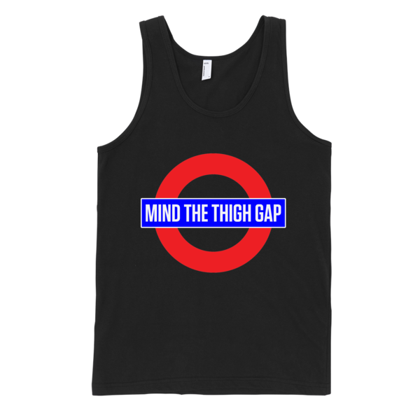 Mind The Thigh Gap Classic tank top (unisex) | Unisex Gray Tank | Eternal Weekend - 3