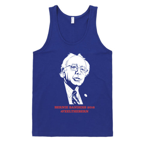 Bernie Sanders Feel The Bern Tank | Unisex Blue Tank | Eternal Weekend