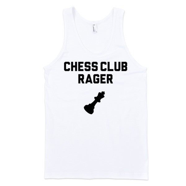 Chess Club Rager Tank | Unisex White Tank | Eternal Weekend - 1