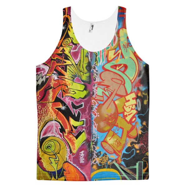 Graffiti Tank Top from Prague (Arnie Glesper Collection) | All-Over Tank | Eternal Weekend - 1