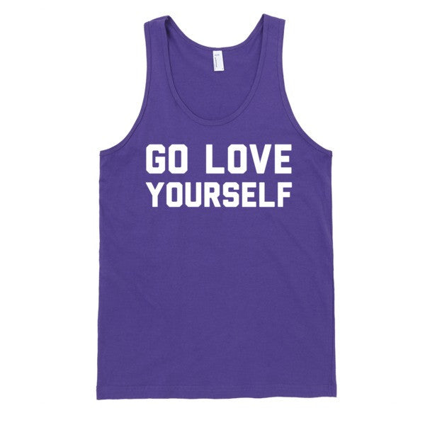 Go Love Yourself (tank) | Unisex Black Tank Top | Eternal Weekend - 3
