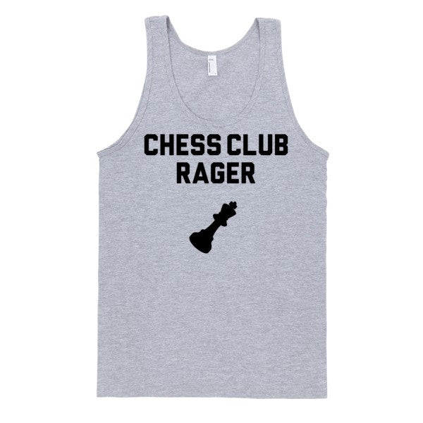 Chess Club Rager Tank | Unisex White Tank | Eternal Weekend - 2