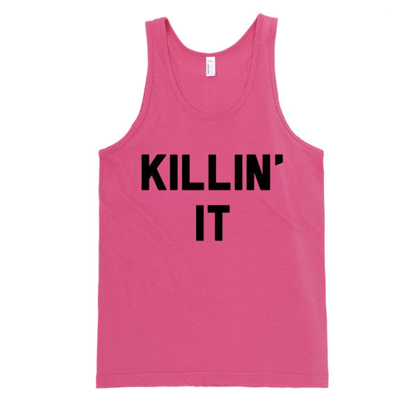 Killin' It Tank | Unisex White Tank | Eternal Weekend - 4
