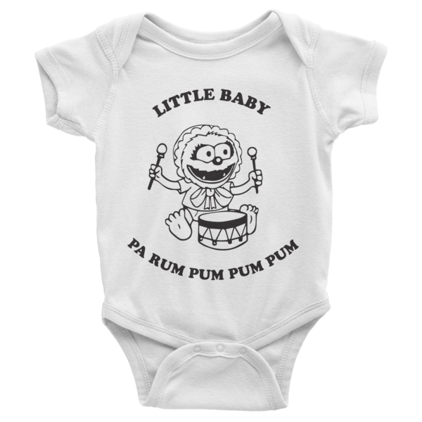 Little Baby (Animal) Pa Rum Pum Pum Pum Infant short sleeve one-piece | Onsies | Eternal Weekend - 1