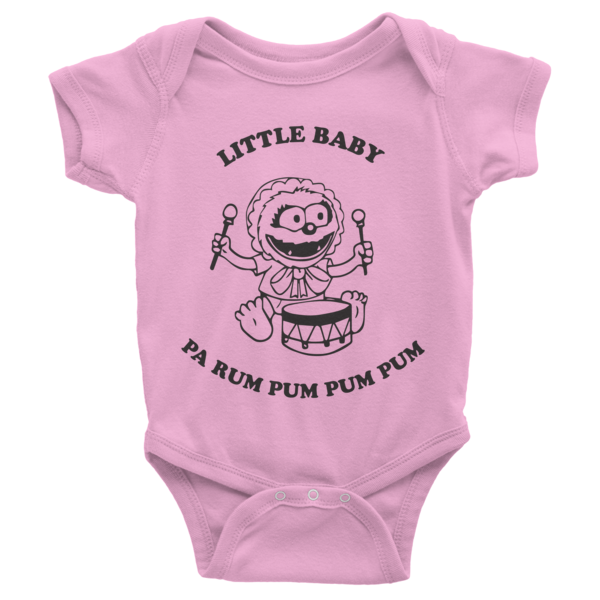 Little Baby (Animal) Pa Rum Pum Pum Pum Infant short sleeve one-piece | Onsies | Eternal Weekend - 3